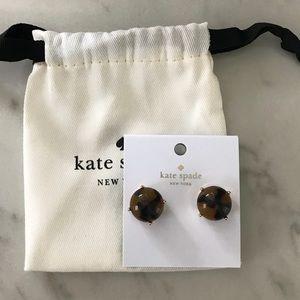 NWT Kate Spade tortoise earrings - bag included!
